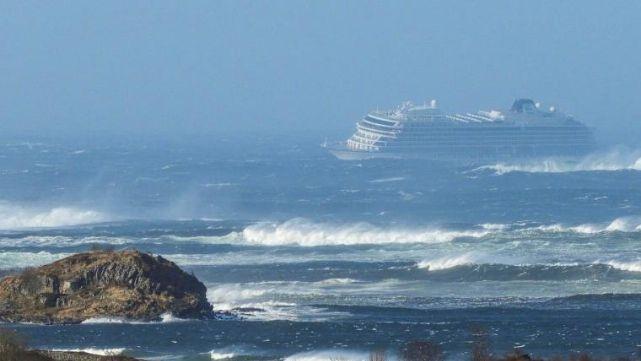 Pánico en un crucero frente a Noruega