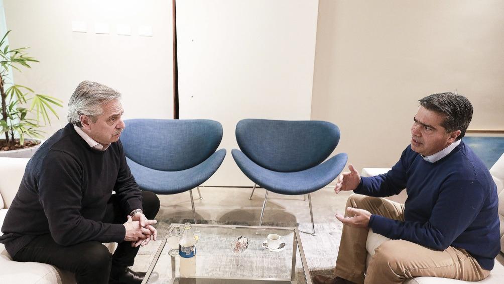 Alberto Fernández recibió a Capitanich y envió un mensaje a la interna del PJ en Chaco